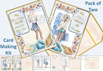 Pack of Two Beauty On The Beach Cards with inserts and envelope
