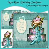Lara Rose Birthday Cardfront with Decoupage
