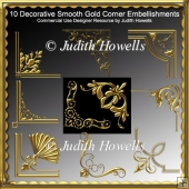 Decorative Smooth Gold Corner Embellishments CU