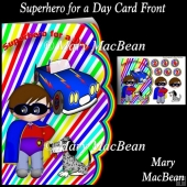 Superhero for a Day Card Front
