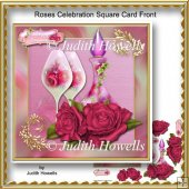 Roses Celebration Square Card Front