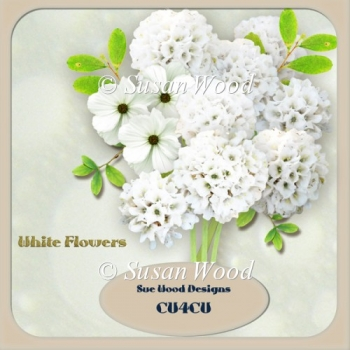 Designer Resource White Florals