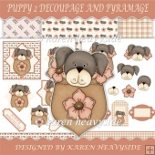 Puppy 2 Decoupage And Pyramage Kit