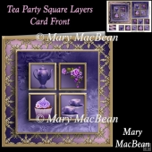 Tea Party Square Layers Card Front