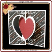 873 Heart Fold Card *Multiple MACHINE Formats*