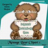 Message Bear 1 Single Clipart