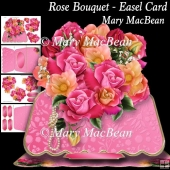 Rose Bouquet - Easel Card