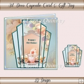 Art Deco Cupcake Card & Gift Tag