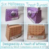 Six Halloween Treat Purses