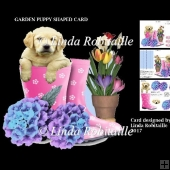 Garden Puppy Shaped Card