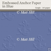 Embossed Anchor Backing Paper in Blue