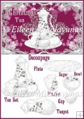 Christmas Tea Card Topper with Decoupage