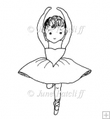 Ballerina Digital Stamp
