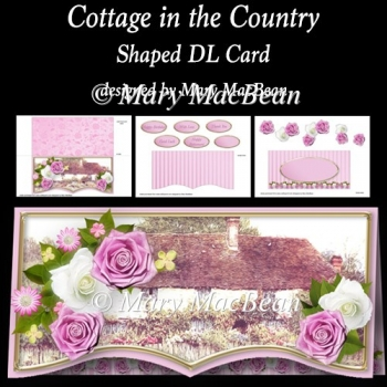 Cottage in the Country - Shaped DL Card
