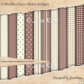 10 Chocolate n Cream Selection A4 Papers