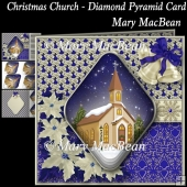 Christmas Church - Diamond Pyramid Card