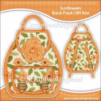 Sunflower Backpack Gift Box