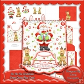 Ho Ho Ho Christmas Drop Down Flap Card