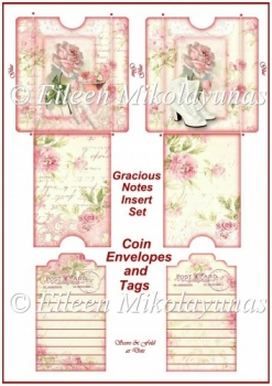 Gracious Notes Coin Envelope and Tags Insert Set