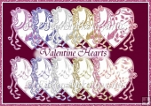 Commercial Use Valentine Hearts Digital Embellishments