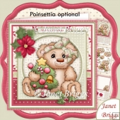 Christmas Teddy & Tree 8x8 Decoupage & Insert Kit