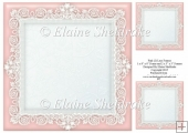 "Pink (2) Lace Frames - One 8"" x 8"" and Two 3"" x 3"""