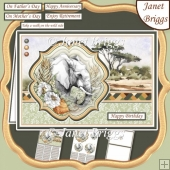 TAKE A WALK ON THE WILD SIDE SAFARI ELEPHANT A5 Pyramage Kit