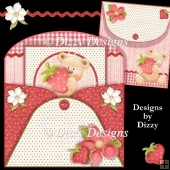 Strawberry Bear Envy Pocket Card