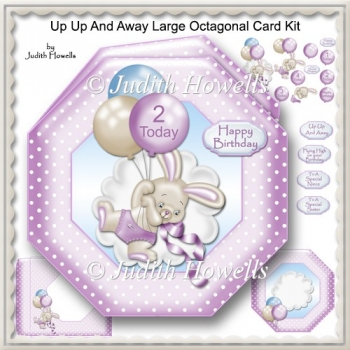 Up Up And Away Large Octagonal Card Kit