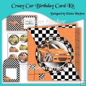 Crazy Car Birthday Card Kit