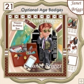YOUNG BUSINESS MAN 7.5 Decoupage & Insert Mini Kit