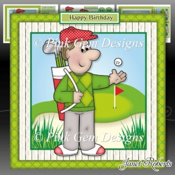 Golfing Dave Mini Kit Birthday Fathers Day