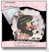 Mooey Christmas Tent Fold Card