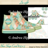 Sneaker Shoe Shape Card Birthday softgreen