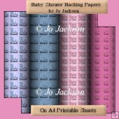 Baby Shower Backing Papers
