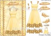 The Lemon Dress ~ Fashion Card Front and Decoupage