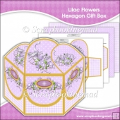 Lilac Flowers Hexagon Gift Box