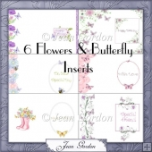 Flowers and Butterfly Inserts