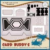 DL Easel Cracker Card Kit Template Set
