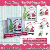 Santa Clause Pop Out Stepper Card