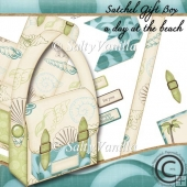 Satchel gift box A Day at the Beach