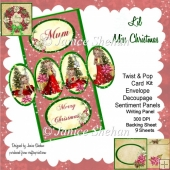 TWIST AND POP CARD KIT - LIL' MISS CHRISTMAS