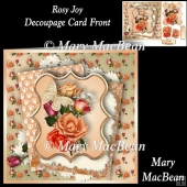 Rosy Joy Decoupage Card Front