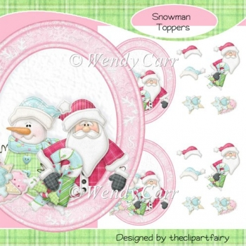 Christmas in Pink Toppers (Retiring in August)