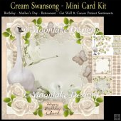 Cream Swansong Mini Card Kit Lots Of Sentiments