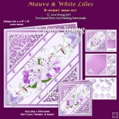 Mauve & White Lilies - 3-Sheet Mini-Kit