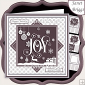 CHRISTMAS MONOTONE JOY 7.5 Quick Layer Card & Insert