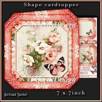 Shape Card Topper 340 Apricot