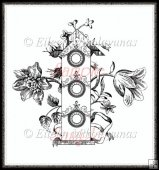 Botanical Birdhouse Digital Stamp