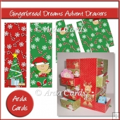 Gingerbread Dreams Advent Calendar Drawers